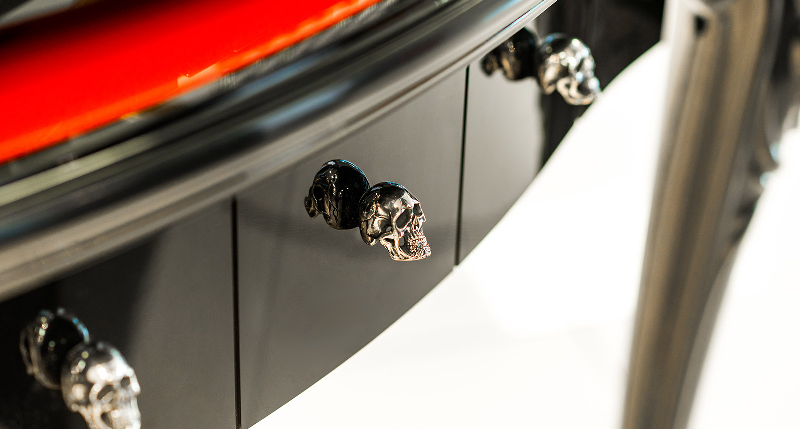 Silver Skulls as Part of Furniture