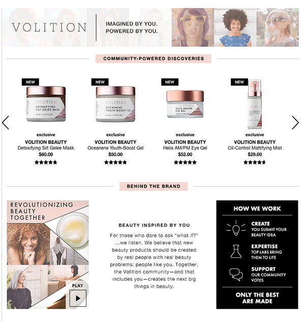 Sephora has partnered with volition to launch an initiative that enables consumers to pitch their own beauty product ideas