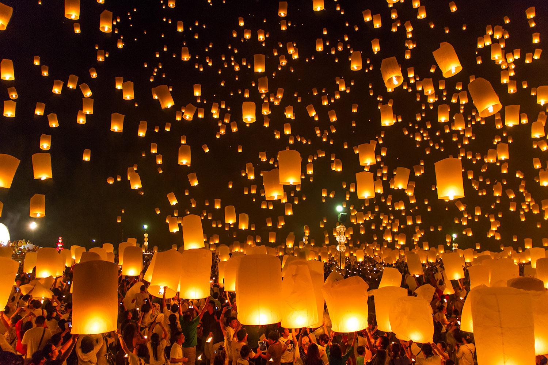 New Years Celebration with Lanterns