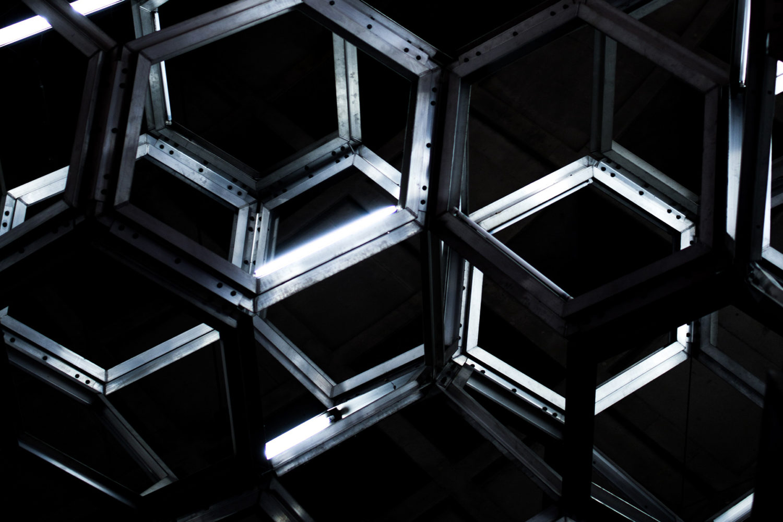 hexagon wall paper