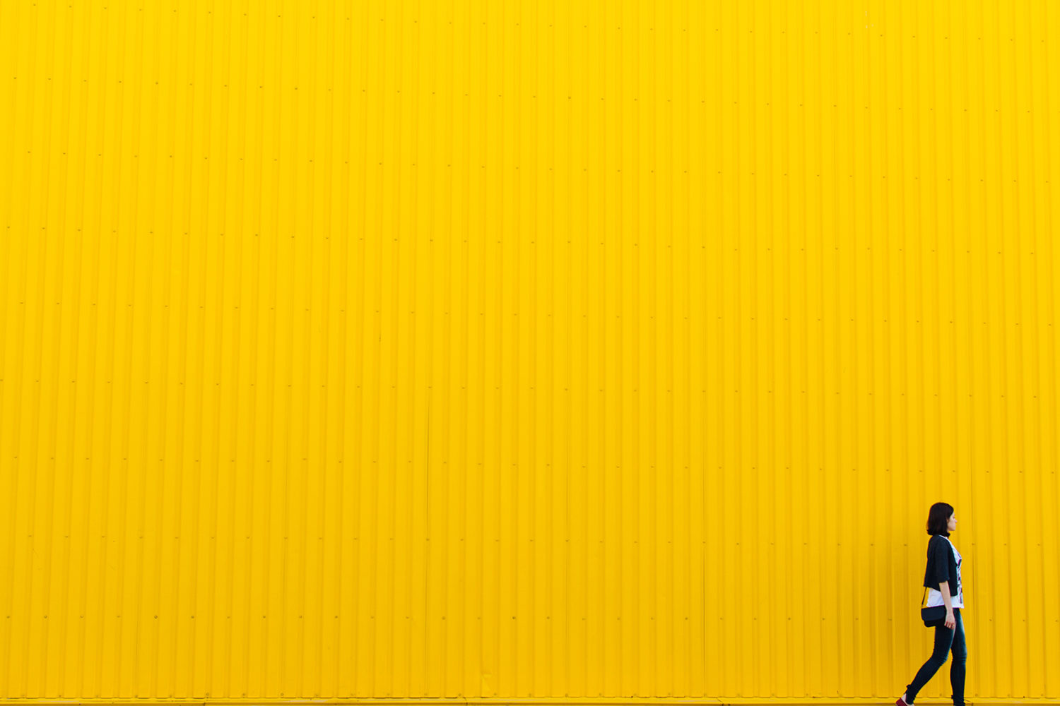 girl with yellow background