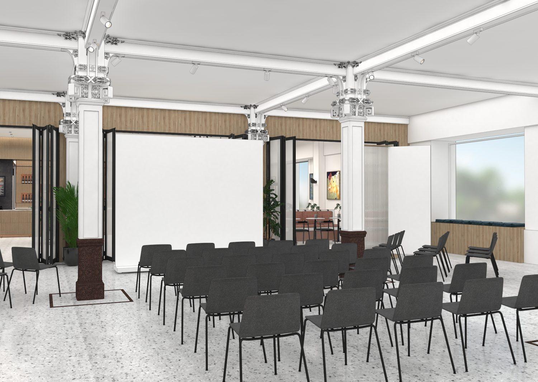 Sheridan&Co TBC Bank Interior Design first floor canvas