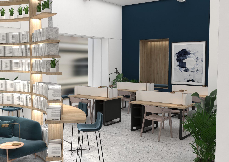 Sheridan&Co TBC Bank Interior Design co-working